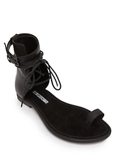 Ann Demeulemeester - Lace-Up Leather Sandals