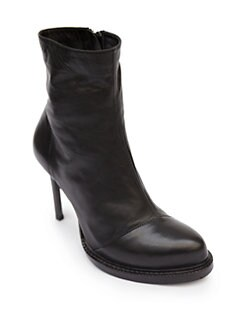 Ann Demeulemeester - Leather Platform Ankle Boots