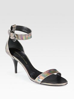 Proenza Schouler - Metallic Leather Ankle Strap Sandals