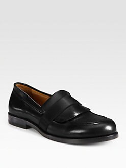 Jil Sander - Leather Elastic-Trimmed Loafers
