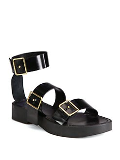 Jil Sander - Leather Triple Buckle Sandals