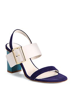 Jil Sander - Colorblock Mixed Media Sandals