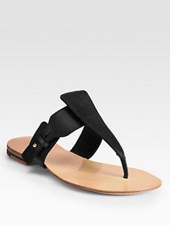 Jil Sander - Leather Thong Sandals