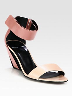 Pierre Hardy - Leather & Suede Ankle Strap Wedge Sandals