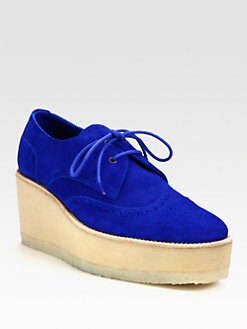 Pierre Hardy - Suede Lace-Up Oxford Platform Wedges
