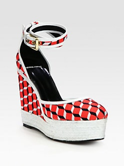 Pierre Hardy - Canvas & Leather Espadrille Sandals