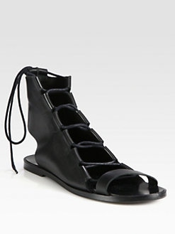 Pierre Hardy - Leather Lace-Up Sandals