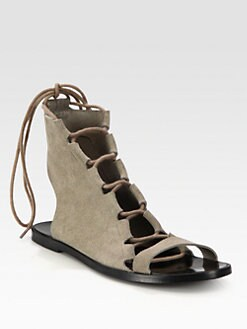 Pierre Hardy - Suede Lace-Up Sandals