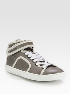 Pierre Hardy - Leather & Suede-Trimmed Lace-Up Sneakers