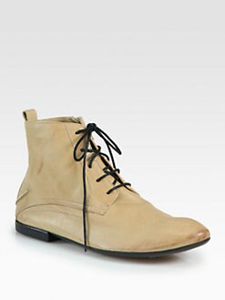 Costume National - Leather Lace-Up Ankle Boots