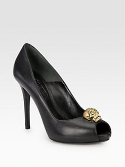 Alexander McQueen - Skull Leather Platform Pumps