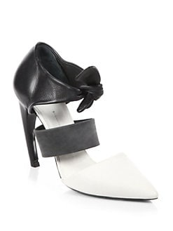 Proenza Schouler - Leather Tie-Up Pumps
