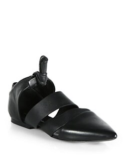 Proenza Schouler - Cutout Leather Flats