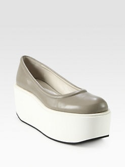 Jil Sander Navy - Leather Platform Pumps