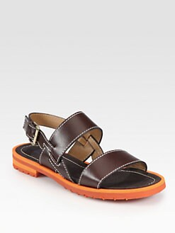 Pollini - Leather Slingback Sandals