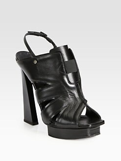 Proenza Schouler - Pyramid Leather Platform Slingback Sandals