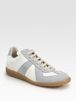 Maison Martin Margiela - Leather & Suede Lace-Up Sneakers