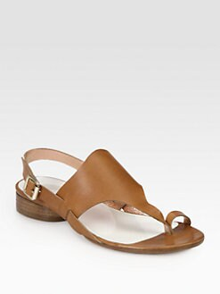 Maison Martin Margiela - Leather Thong Slingback Sandals
