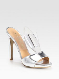 Aperlai - Marilyn Translucent Metallic Leather Sandals