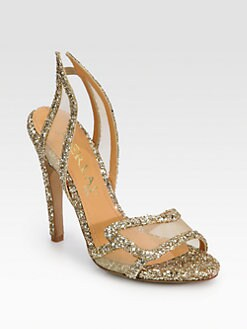 Aperlai - Spokette Glitter & Mesh Sandals