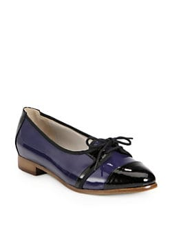 Jason Wu - Dorian Bicolor Patent Leather Lace-Up