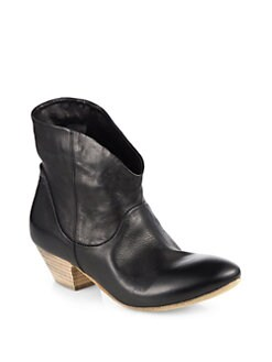 Elisanero - Cowboy Leather Ankle Boots