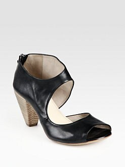 Elisanero - Cutout Leather Sandals