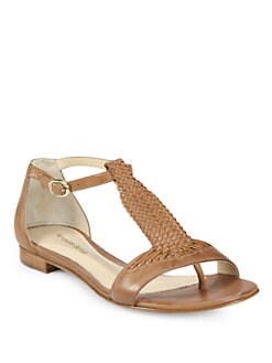 Alexandre Birman - Woven Leather T-Strap Sandals