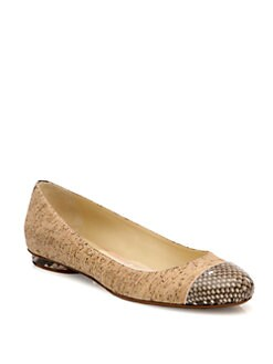 Alexandre Birman - Python & Cork Ballet Flats
