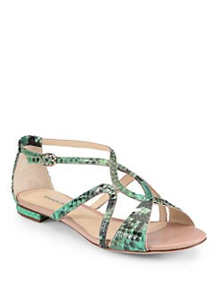 Alexandre Birman - Strappy Python Sandals