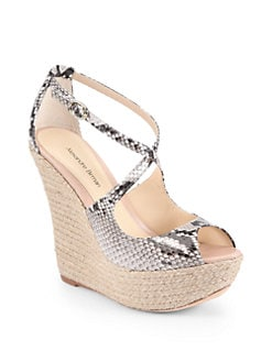 Alexandre Birman - Python Espadrille Wedge Sandals