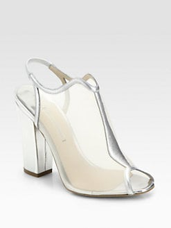 Nicholas Kirkwood - Metallic Leather Slingback Ankle Boots