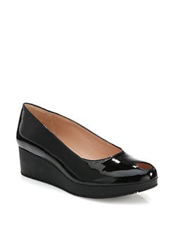 Robert Clergerie - Vocha Patent Leather Wedge Pumps