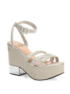 Robert Clergerie - Damian Mixed Media Wedge Sandals