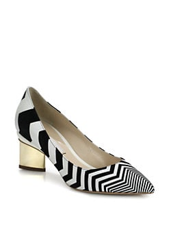 Nicholas Kirkwood - Zig Zag Leather & Suede Pumps