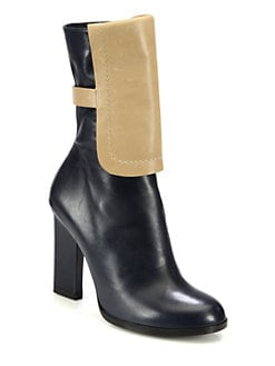 Jil Sander - Fold-Over Leather Boots