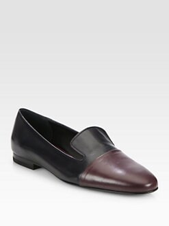 Jil Sander - Bicolor Leather Smoking Slippers