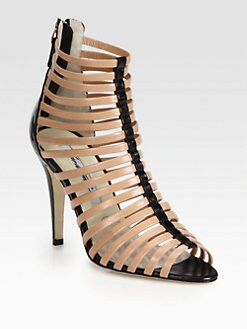 Brian Atwood - Dolores Bicolor Leather Gladiator Sandals
