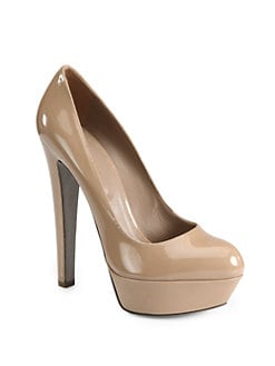 Sergio Rossi - Patent Leather Platform Pumps