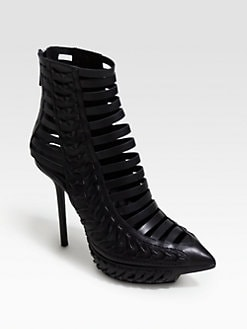 Haider Ackermann - Woven Leather Platform Ankle Boots