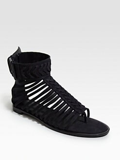 Haider Ackermann - Woven Leather Sandals
