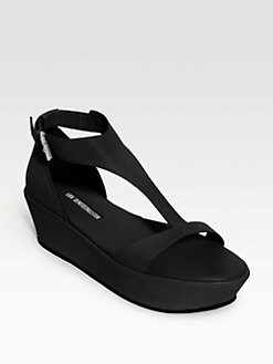 Ann Demeulemeester - Leather T-Strap Platform Sandals