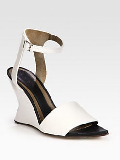 Marni - Leather Metal Wedge Sandals