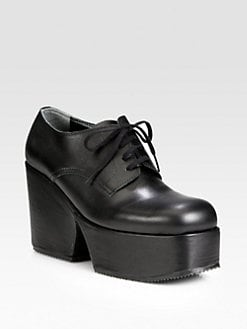 Comme des Garcons - Leather Lace-Up Platform Oxfords