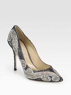 Nicholas Kirkwood - Crystal-Coated Metallic Leather Pumps