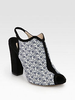 Nicholas Kirkwood - Floral-Print Canvas & Suede Ankle Boots