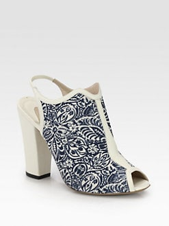 Nicholas Kirkwood - Floral-Print Canvas & Leather Ankle Boots