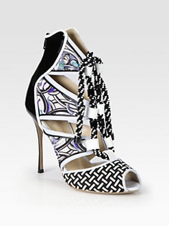Nicholas Kirkwood - Mixed Media Beaded Lace-Up Ankle Boots