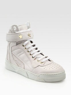 Givenchy - Leather Lace-Up Sneakers
