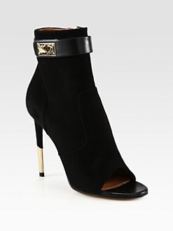 Givenchy - Suede & Leather Ankle Boots